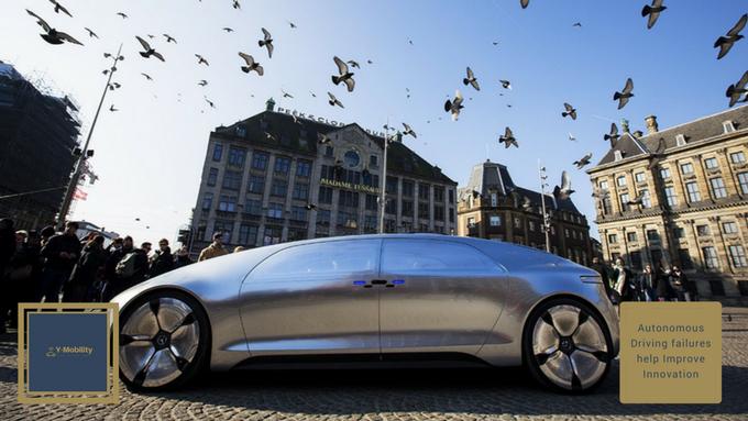 Autonomous Driving failures help Improve Innovation