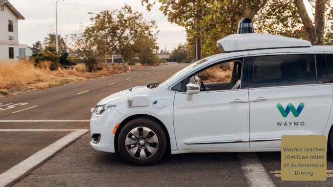 Waymo reaches 10 million miles of Autonomous Driving