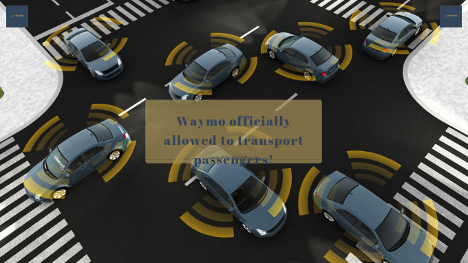 Waymo officially allowed to transport passengers!